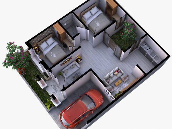 Rumah Murah Minimalis Modern di Wayhalim