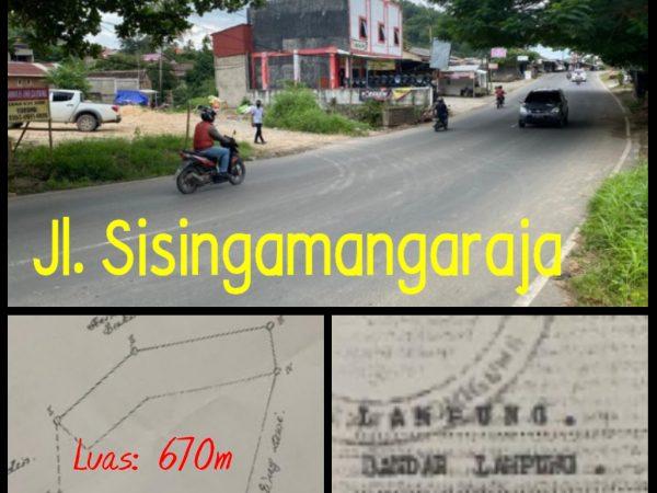 Dijual Murah Tanah di Pinggir jalan Sisingamangaraja, Bandar Lampung