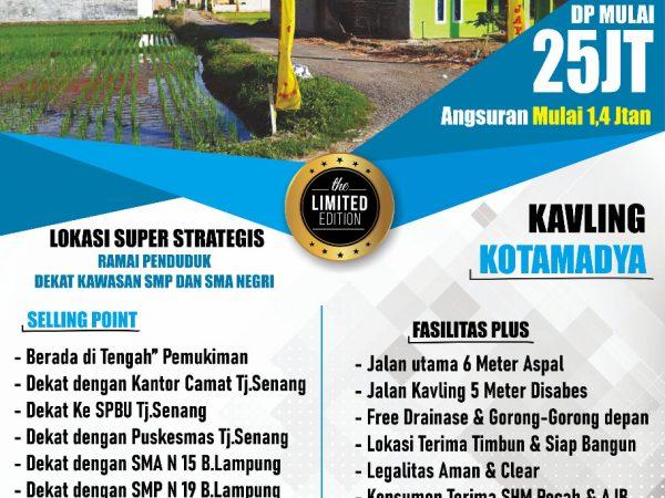 Tanah Kavling Murah Kredit Syariah di Tanjung Senang