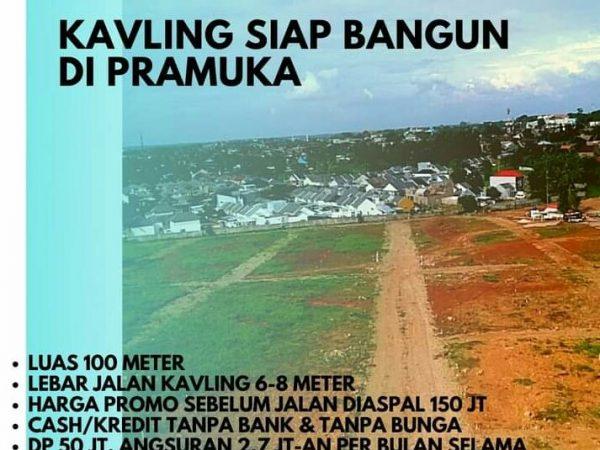 Tanah Kavling di Pramuka Rajabasa Bandar Lampung