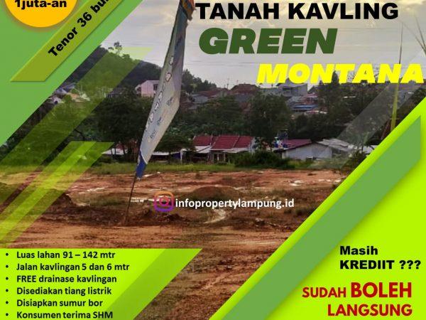 Tanah Kavling Murah di Sukabumi Tirtayasa Bandar Lampung, Kavling MONTANA